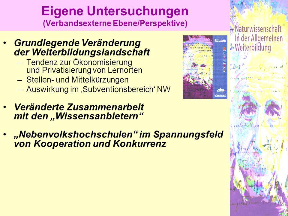 Eigene Untersuchungen (Verbandsexterne Ebene/Perspektive)