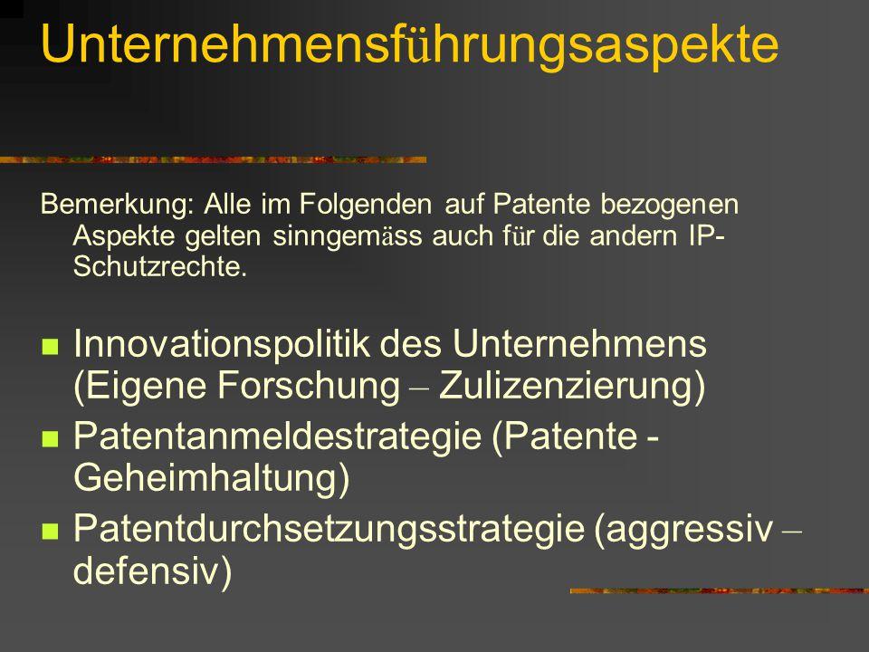 Unternehmensführungsaspekte