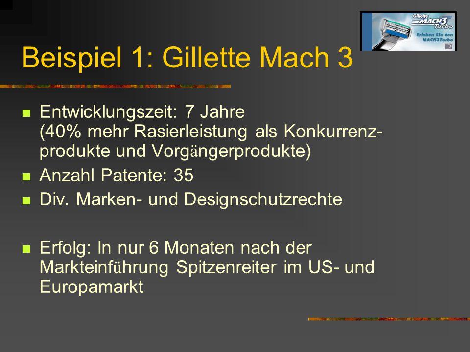 Beispiel 1: Gillette Mach 3