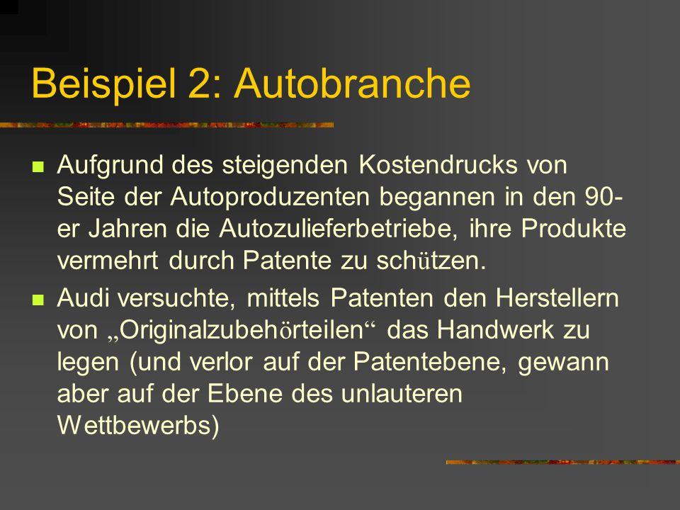 Beispiel 2: Autobranche
