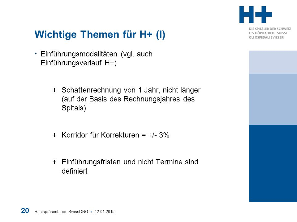 Wichtige Themen für H+ (I)