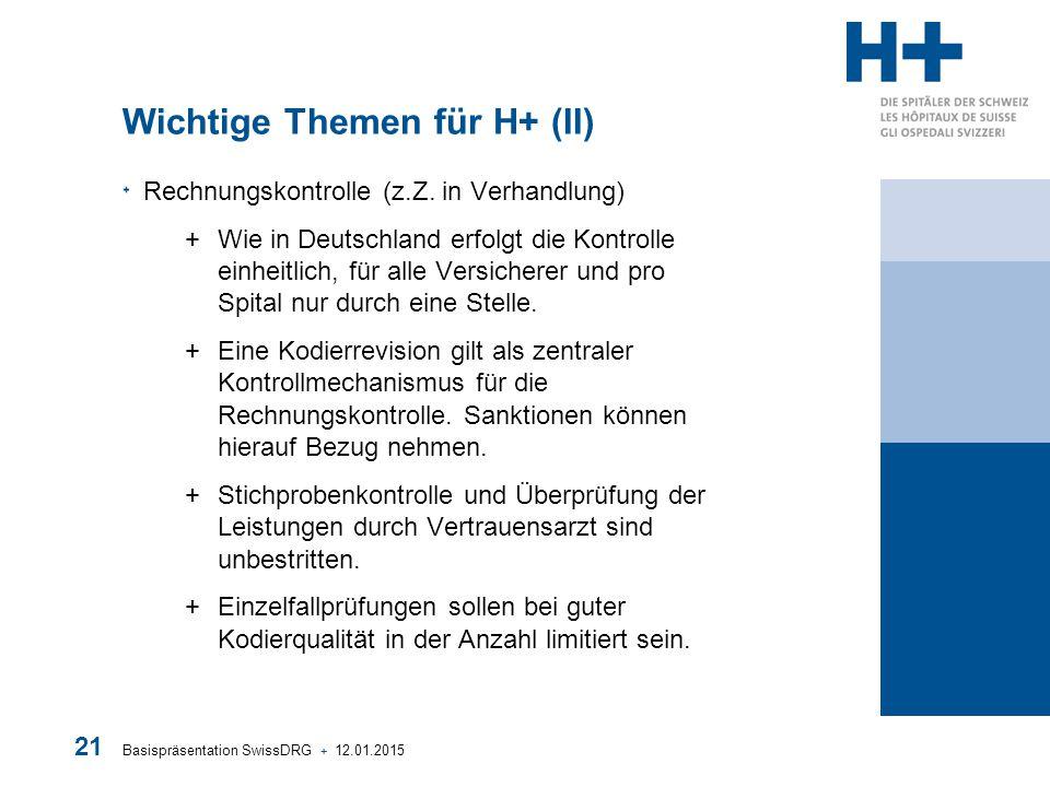 Wichtige Themen für H+ (II)