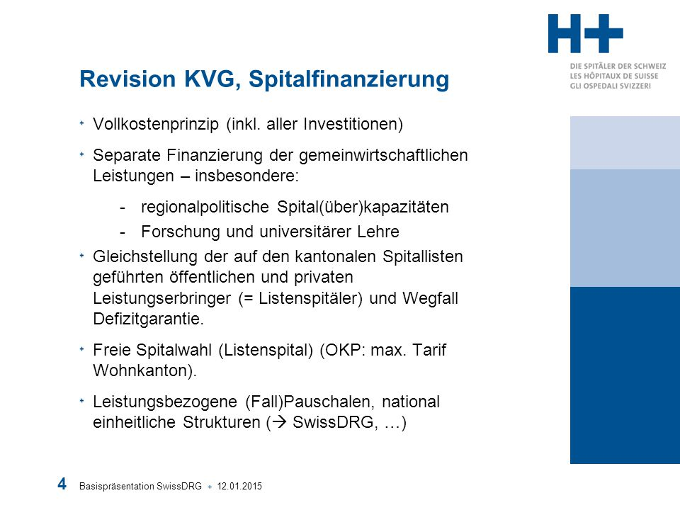 Revision KVG, Spitalfinanzierung