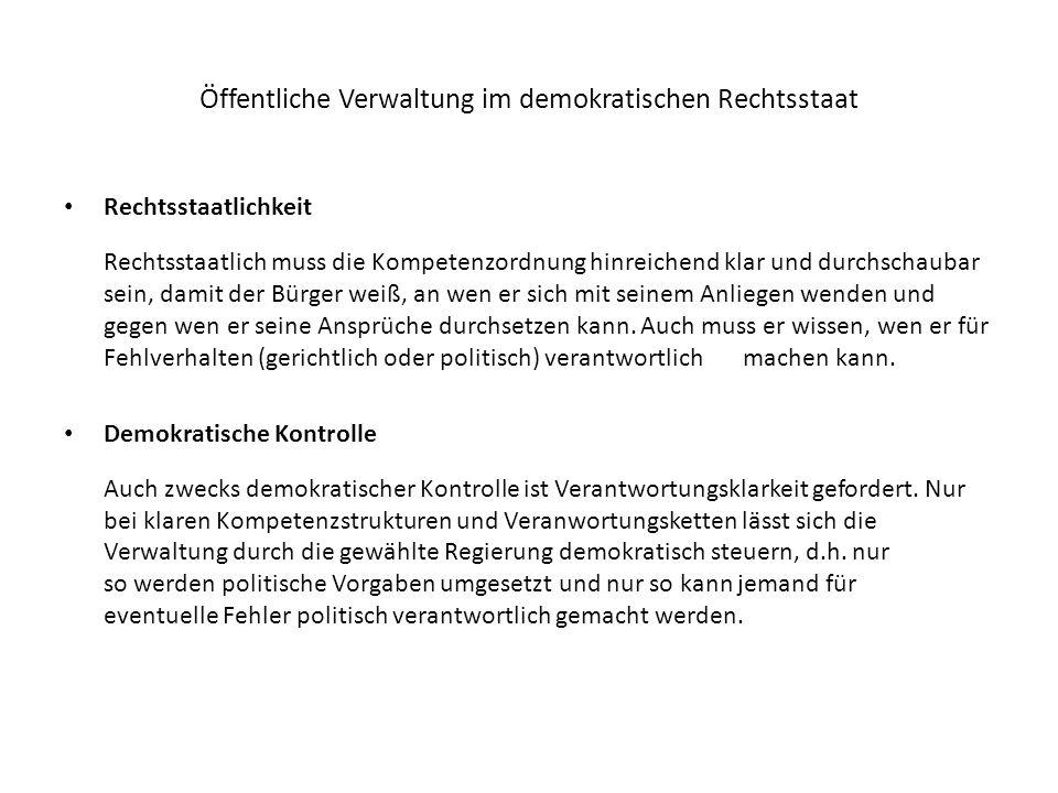 Öffentliche Verwaltung im demokratischen Rechtsstaat