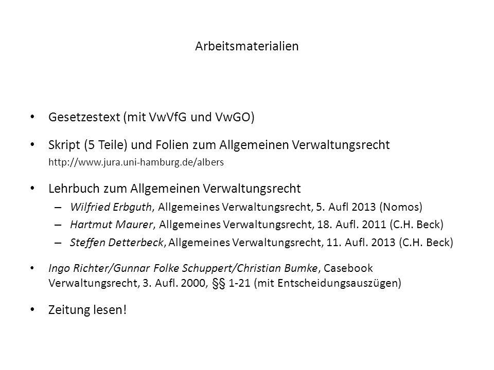 Gesetzestext (mit VwVfG und VwGO)