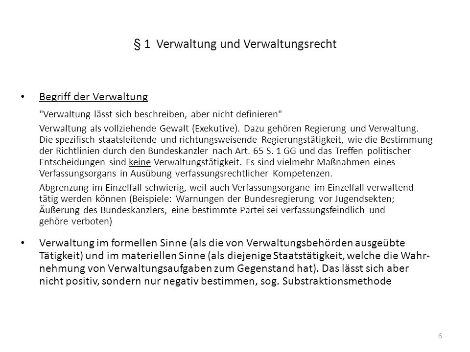 § 1 Verwaltung und Verwaltungsrecht