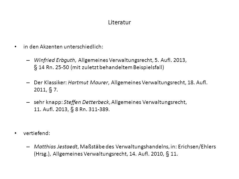 Literatur in den Akzenten unterschiedlich: