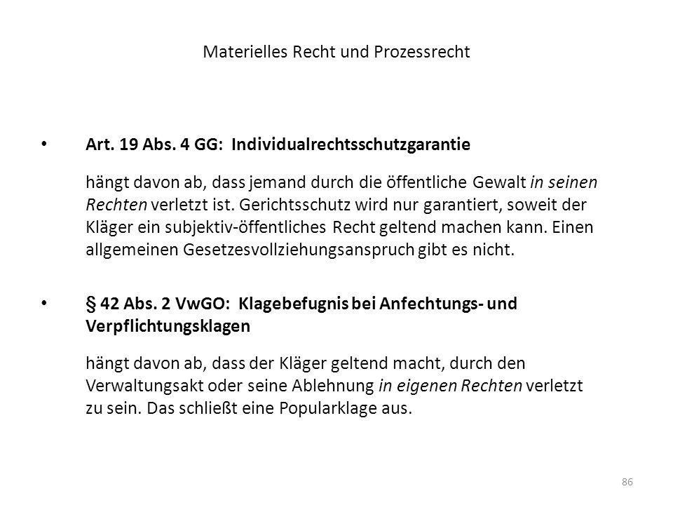 Materielles Recht und Prozessrecht