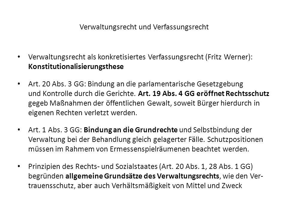 Verwaltungsrecht und Verfassungsrecht
