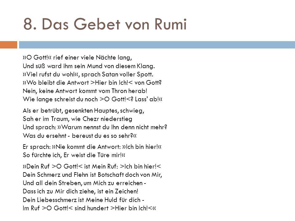 8. Das Gebet von Rumi