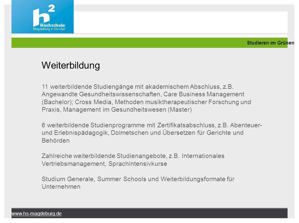 Studieren im Grünen Weiterbildung.