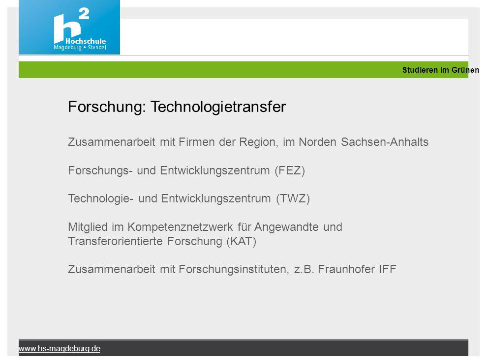 Forschung: Technologietransfer