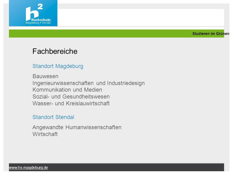 Fachbereiche Standort Magdeburg Bauwesen