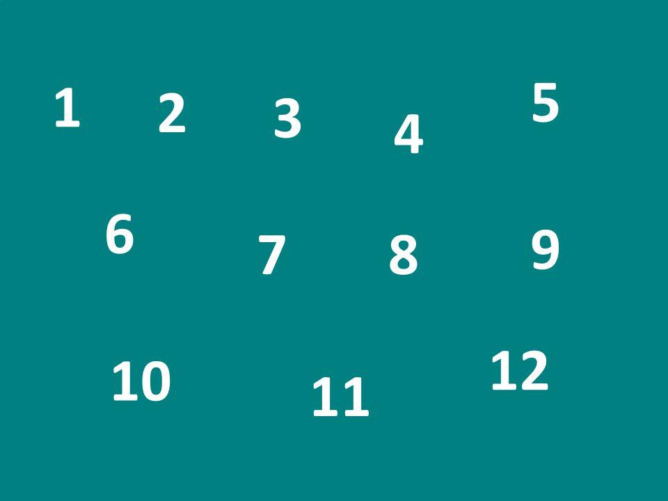 5 1 2 3 4 6 9 7 8 12 10 11