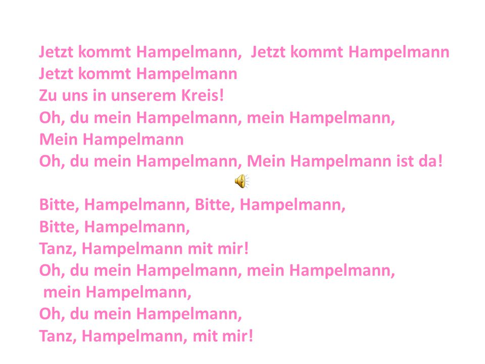 Jetzt kommt Hampelmann, Jetzt kommt Hampelmann
