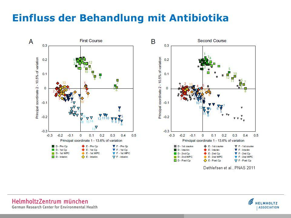 Einfluss der Behandlung mit Antibiotika