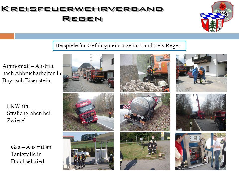 Beispiele für Gefahrguteinsätze im Landkreis Regen
