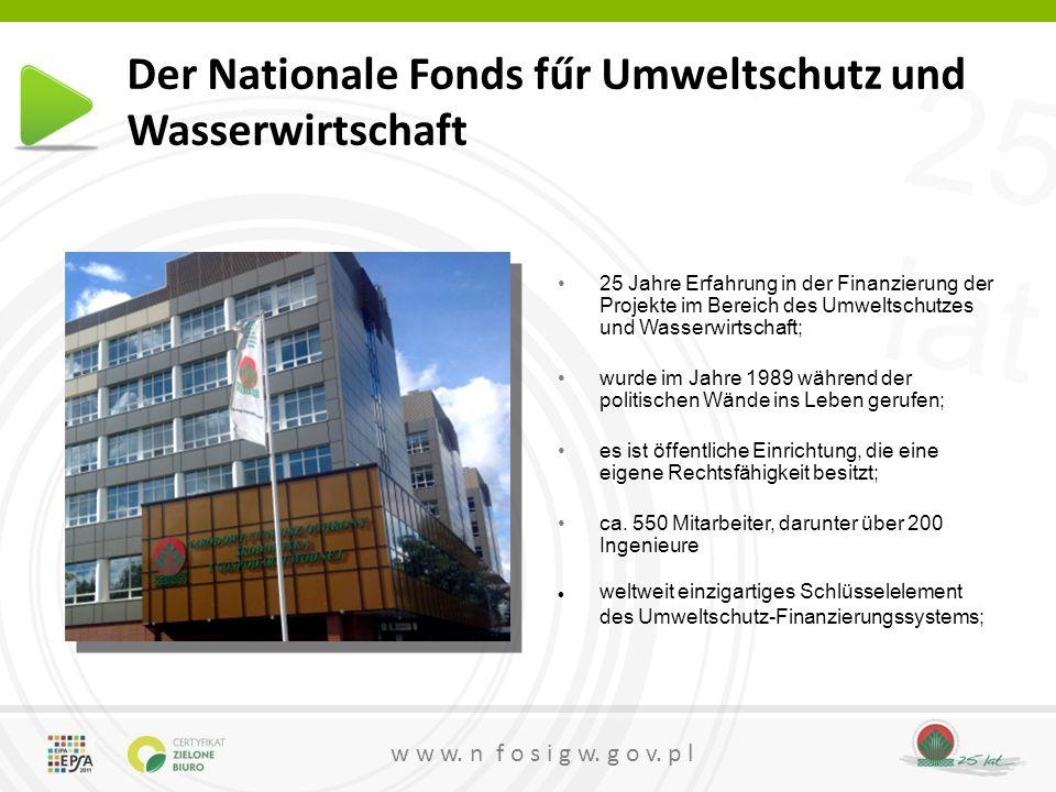 Der Nationale Fonds fűr Umweltschutz und Wasserwirtschaft