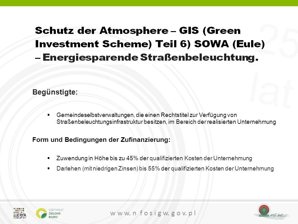 Form und Bedingungen der Zufinanzierung: