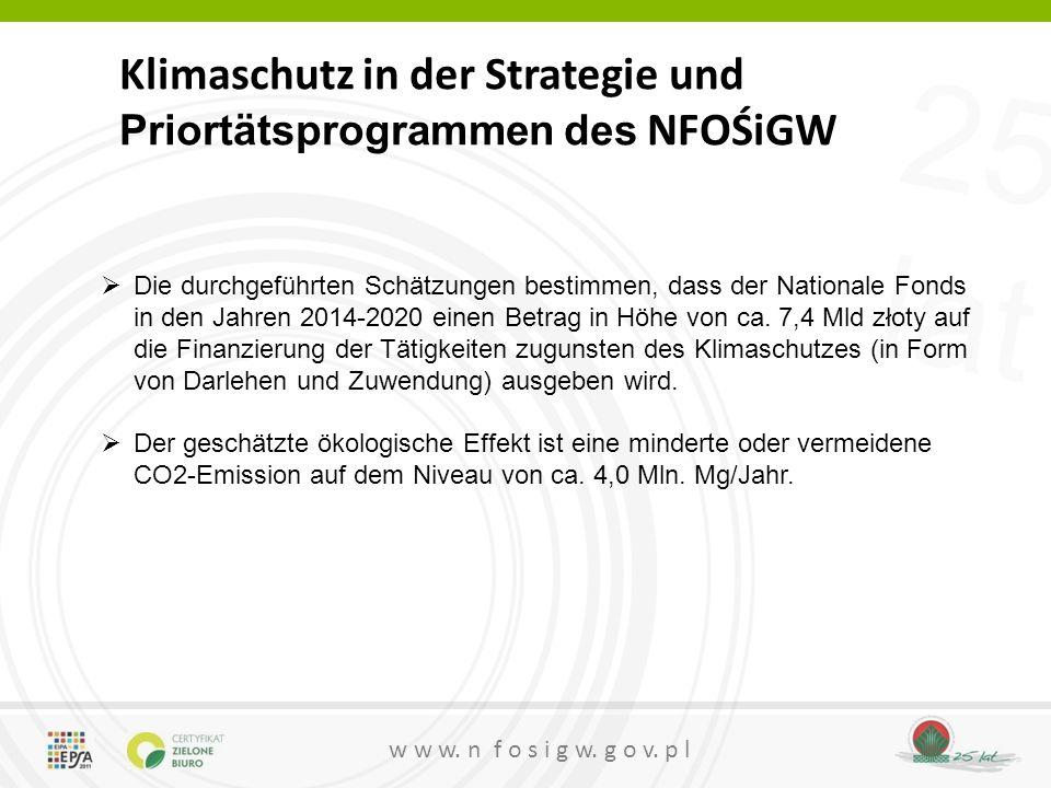 Klimaschutz in der Strategie und Priortätsprogrammen des NFOŚiGW
