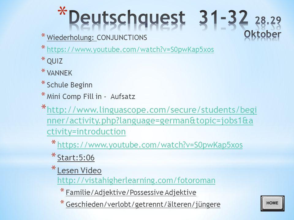 Deutschquest 31-32 28.29 Oktober