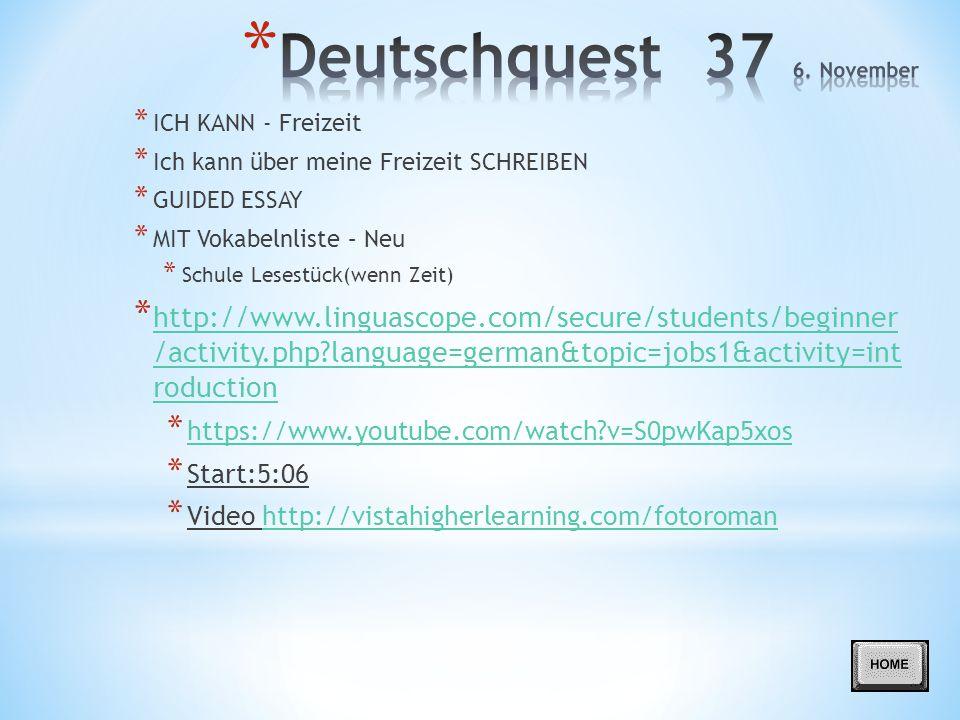 Deutschquest 37 6. November