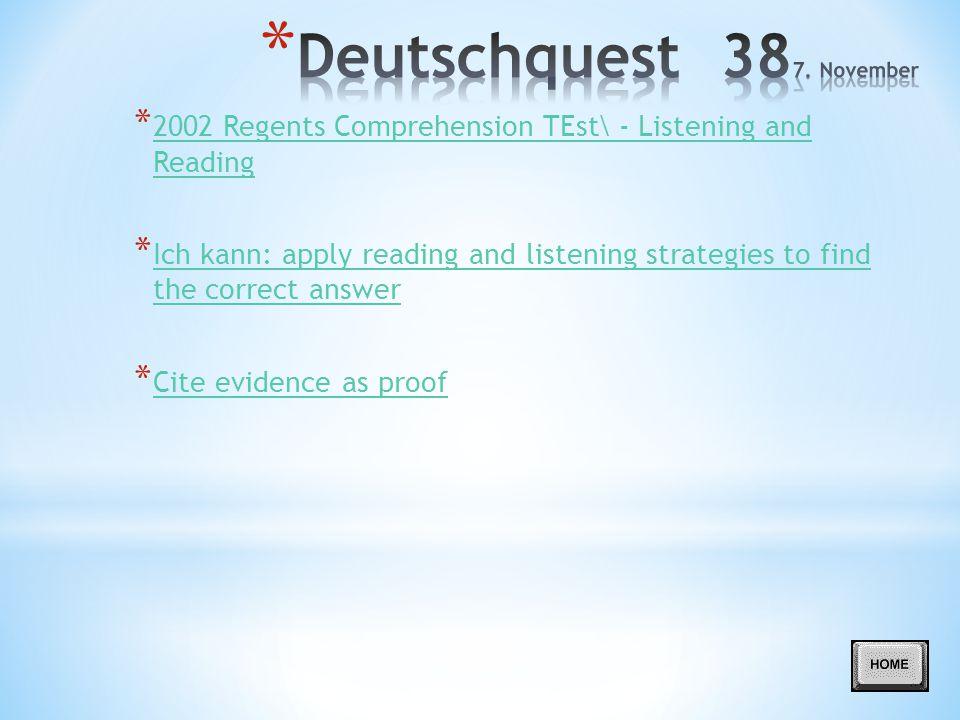 Deutschquest 387. November