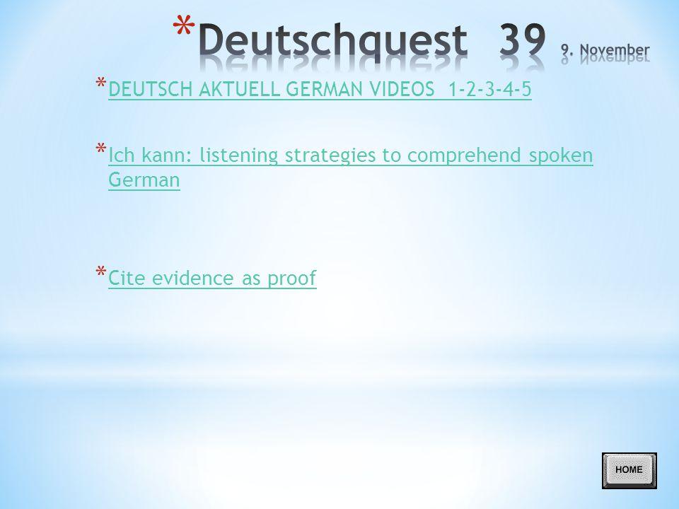 Deutschquest 39 9. November