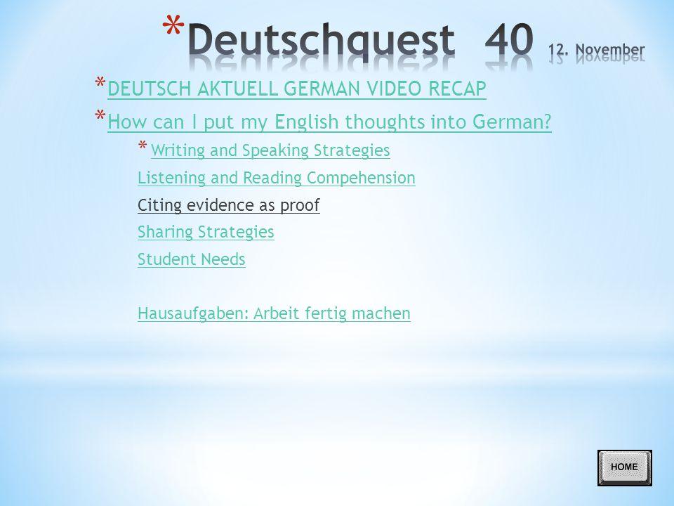 Deutschquest 40 12. November