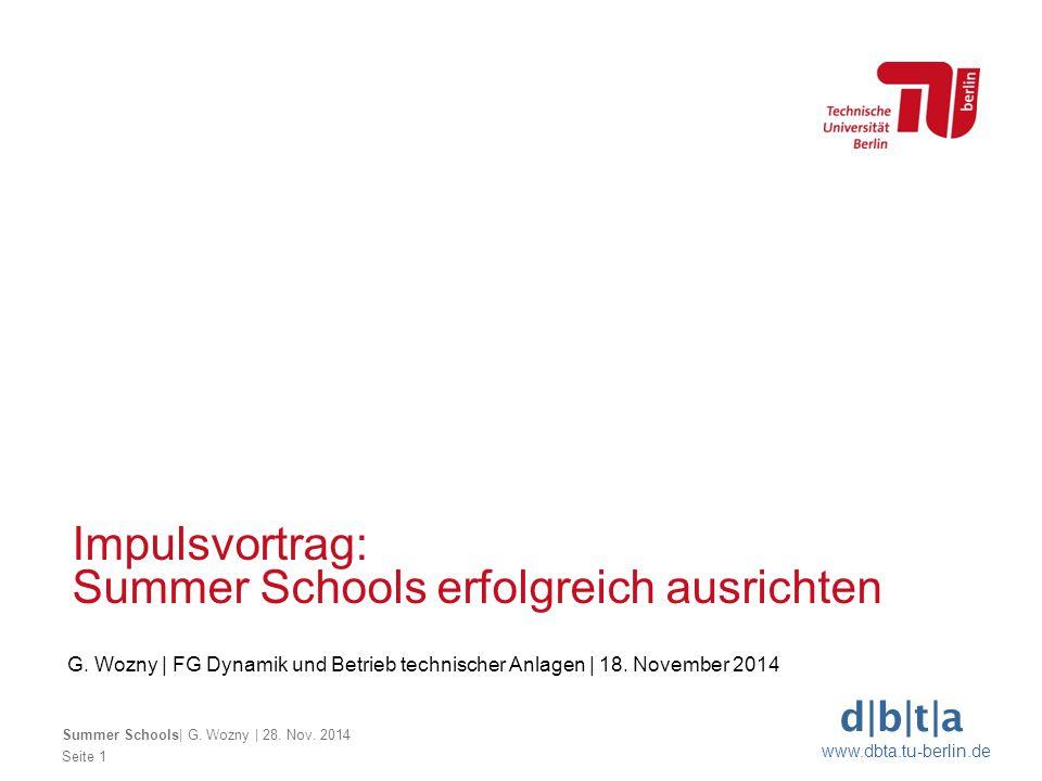 Summer Schools erfolgreich ausrichten