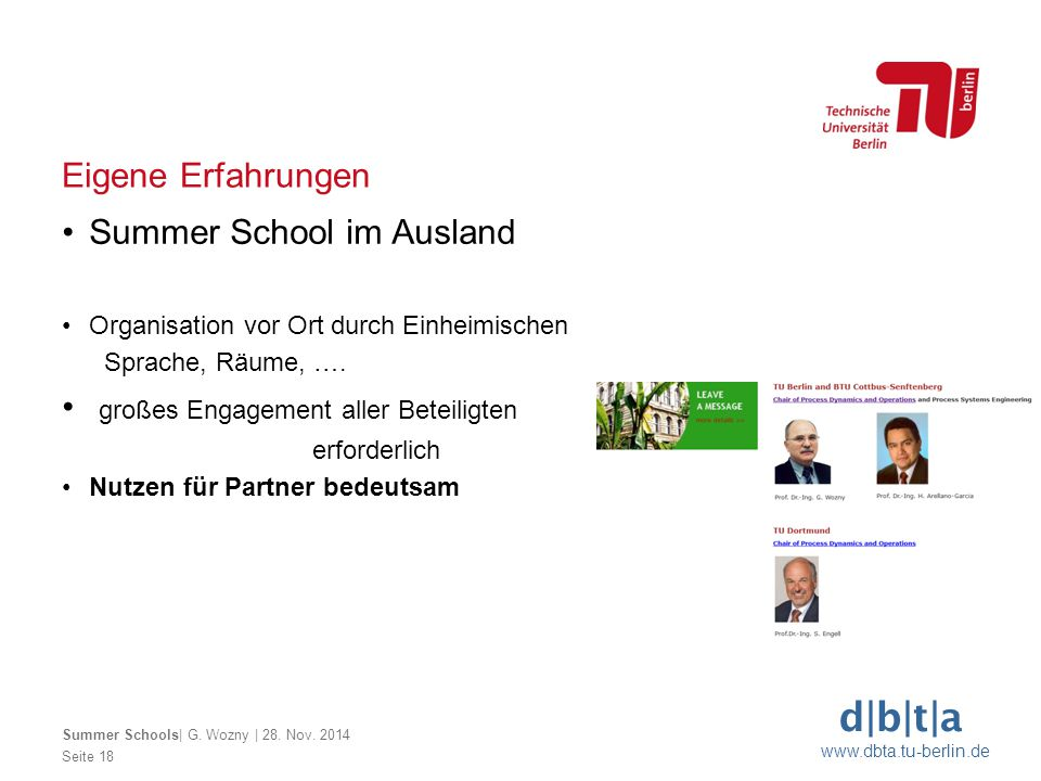 Summer School im Ausland