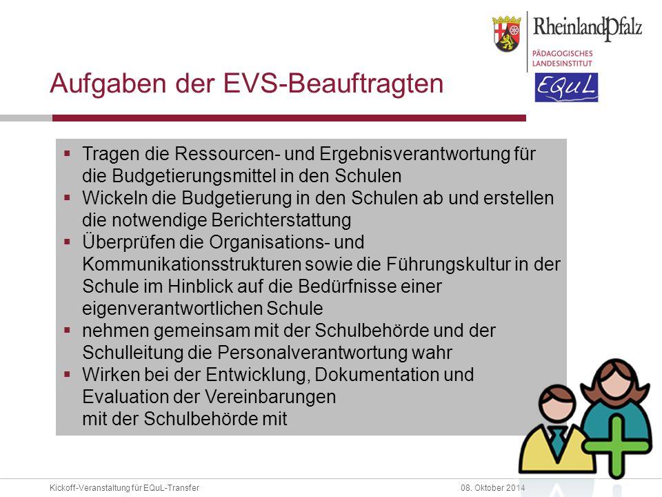 Aufgaben der EVS-Beauftragten