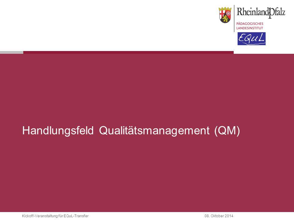 Handlungsfeld Qualitätsmanagement (QM)