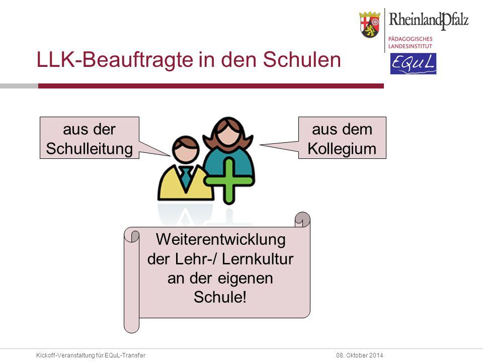 LLK-Beauftragte in den Schulen