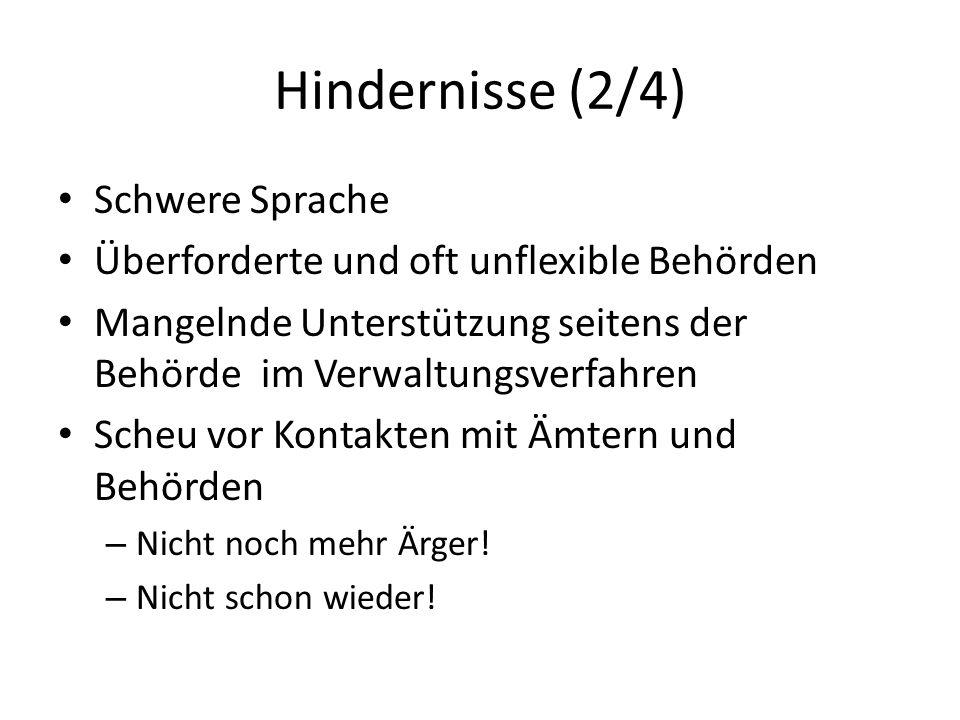 Hindernisse (2/4) Schwere Sprache