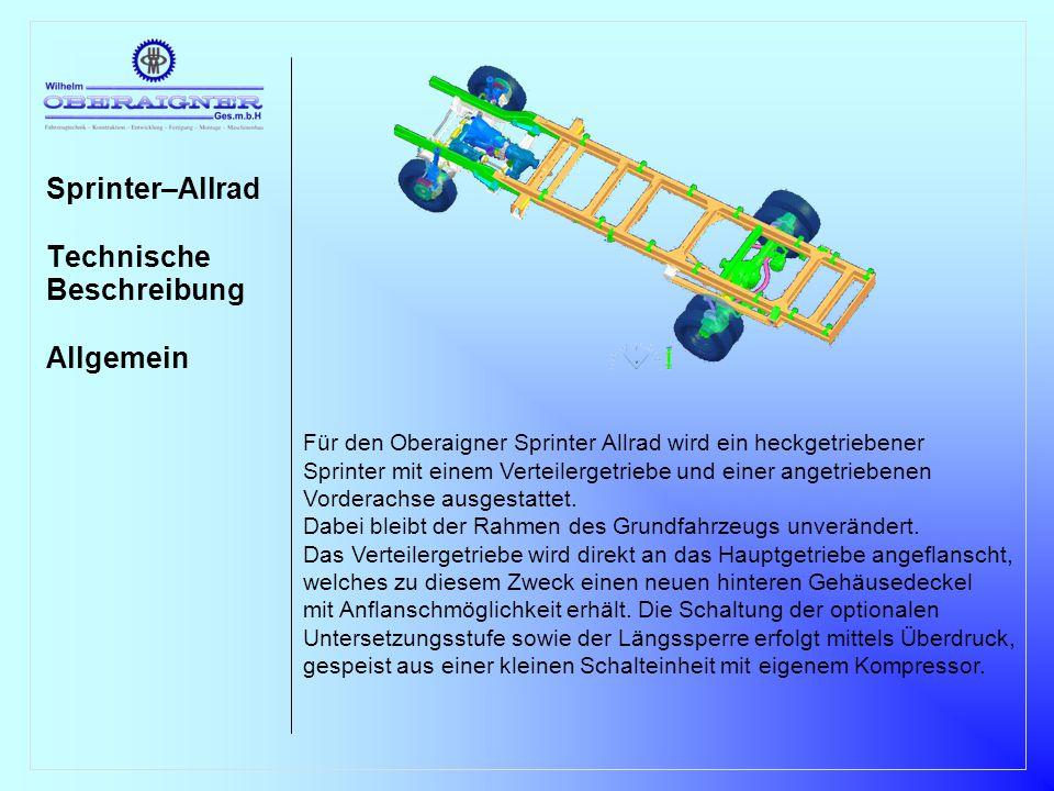 Sprinter–Allrad Technische Beschreibung Allgemein