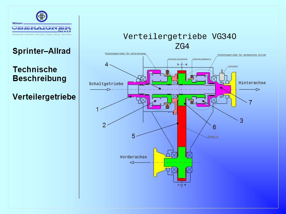Sprinter–Allrad Technische Beschreibung Verteilergetriebe