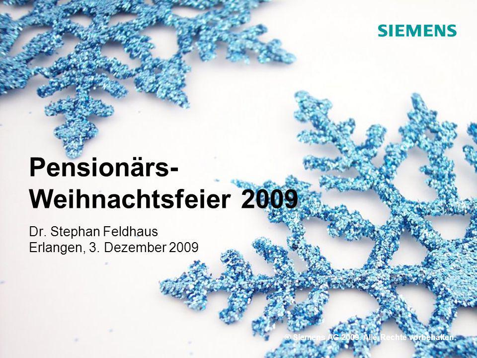 Pensionärs- Weihnachtsfeier 2009