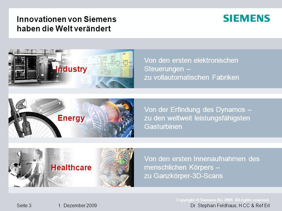 Innovationen von Siemens haben die Welt verändert
