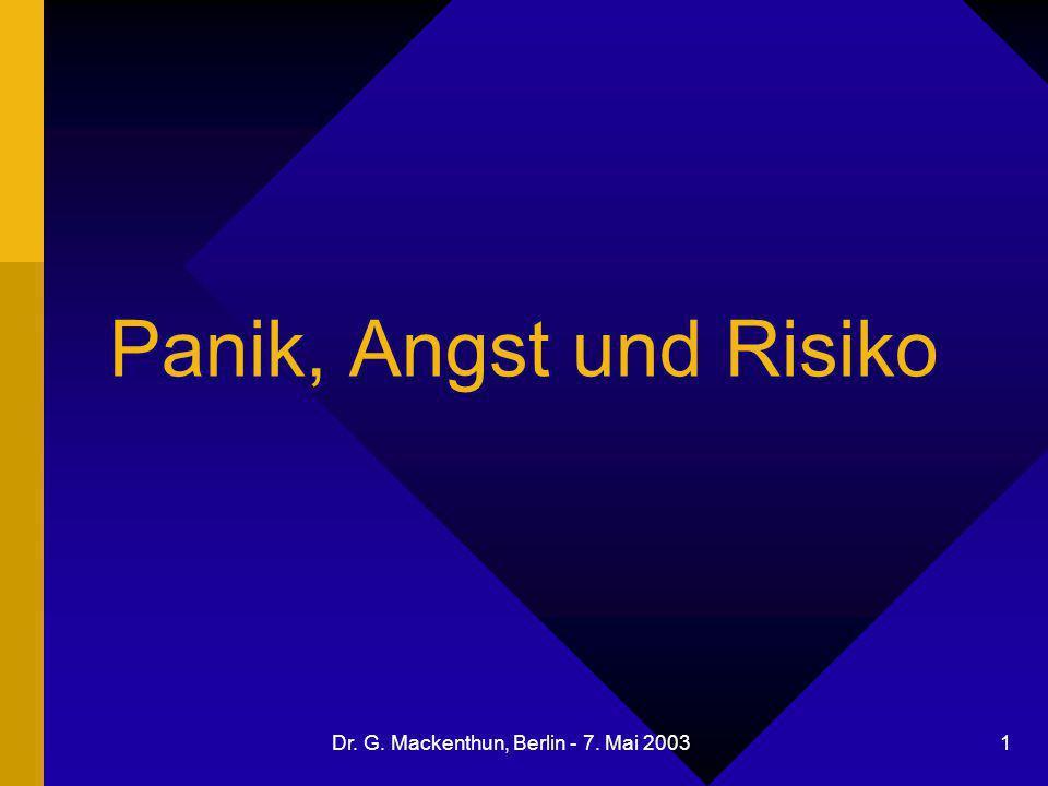 Dr. G. Mackenthun, Berlin - 7. Mai 2003