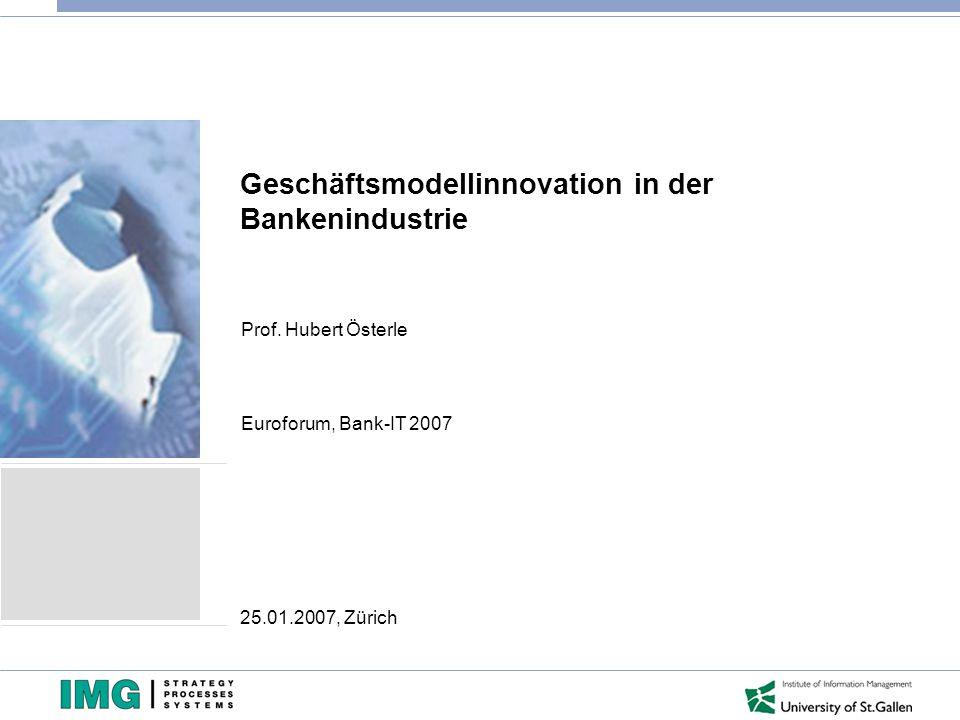 Geschäftsmodellinnovation in der Bankenindustrie