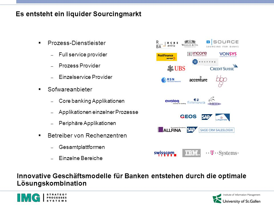 Es entsteht ein liquider Sourcingmarkt