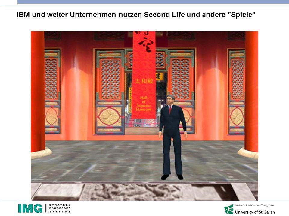IBM und weiter Unternehmen nutzen Second Life und andere Spiele