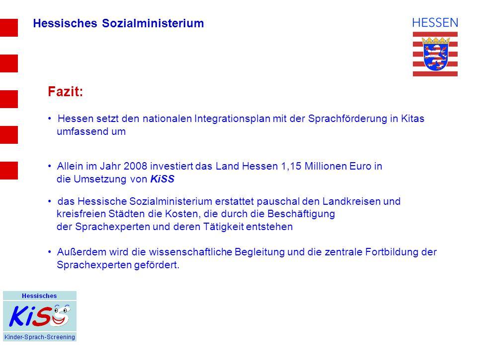 Fazit: Hessisches Sozialministerium