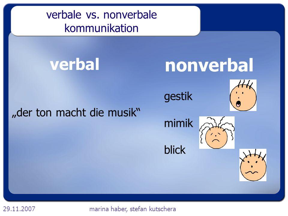 verbale vs. nonverbale kommunikation