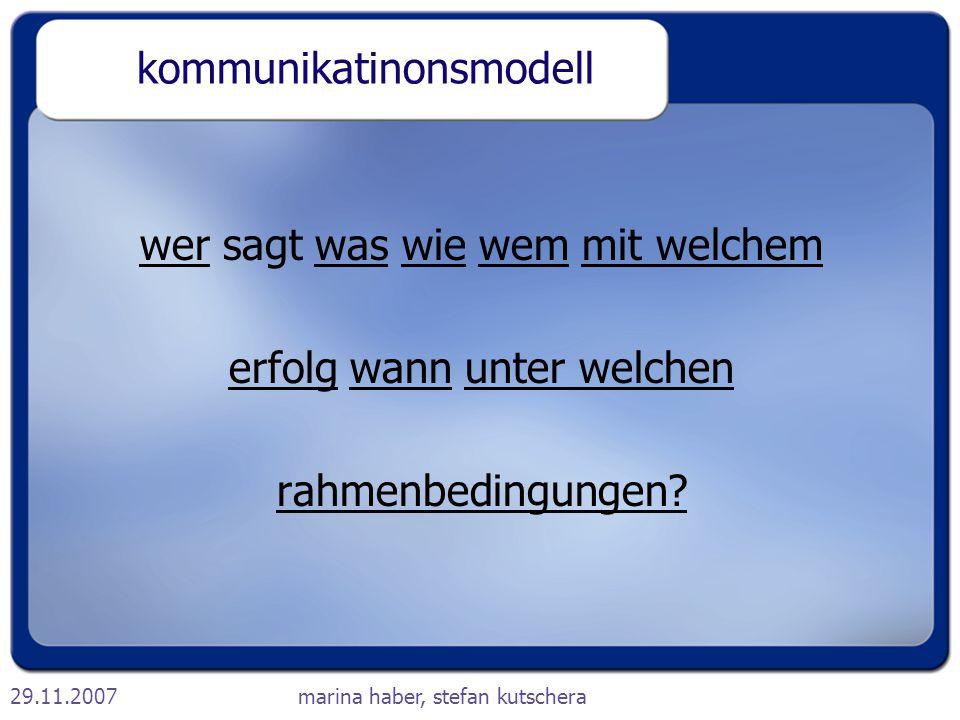 kommunikatinonsmodell