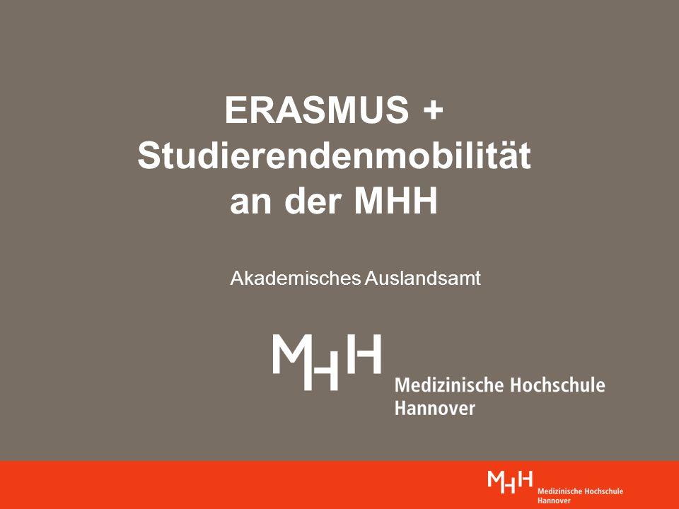 ERASMUS + Studierendenmobilität an der MHH