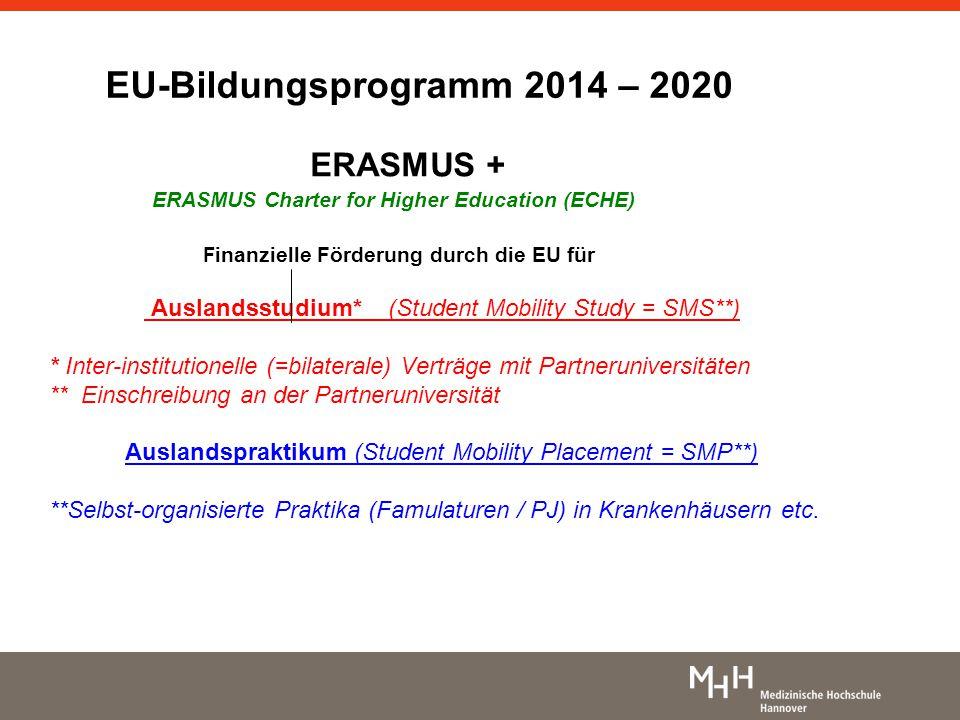 EU-Bildungsprogramm 2014 – 2020
