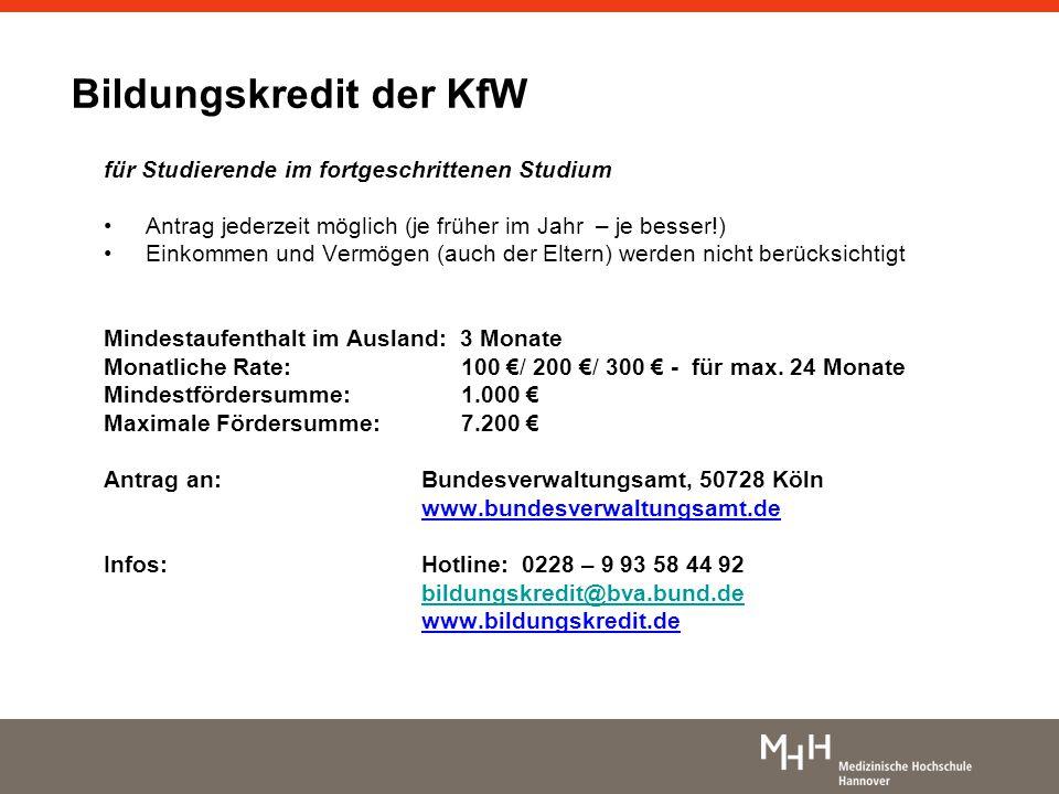 Bildungskredit der KfW