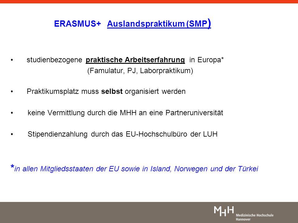 ERASMUS+ Auslandspraktikum (SMP)